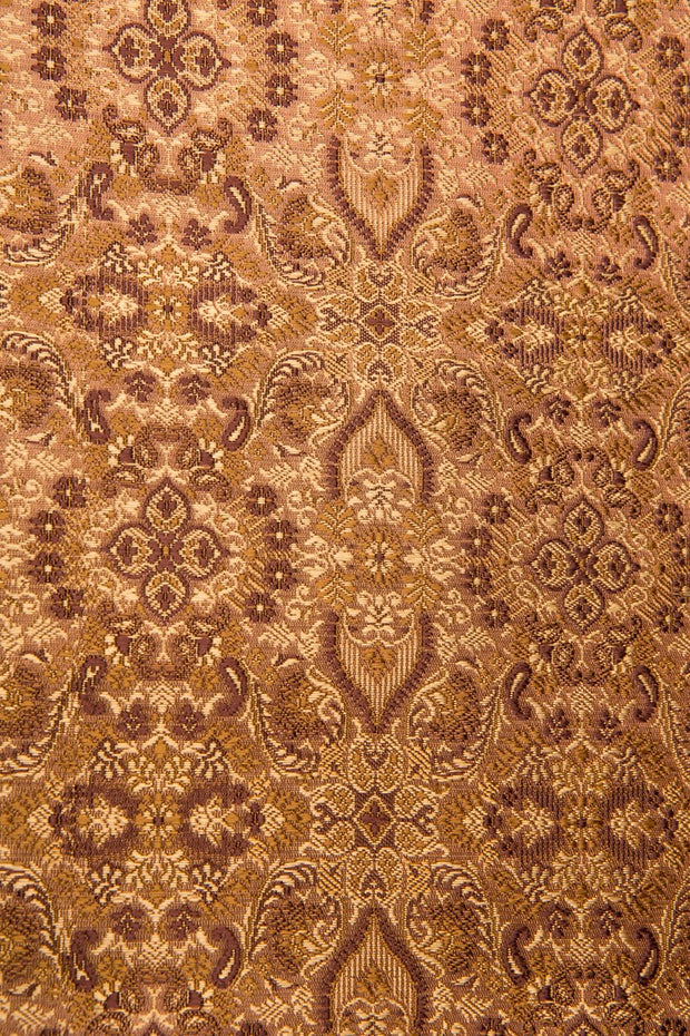 Brown Silk Brocade 442 Fabric