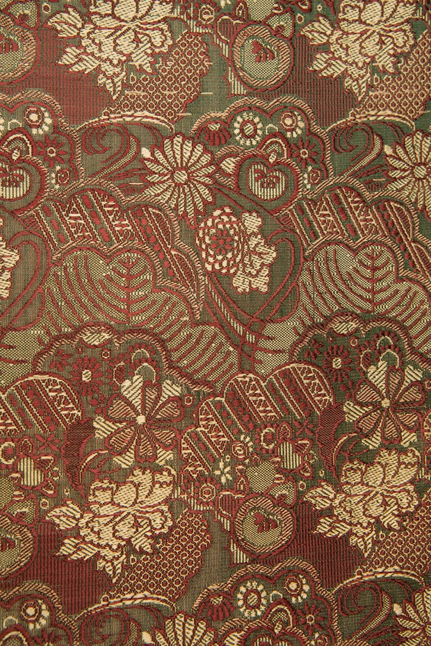 Green Magenta Silk Brocade 445 Fabric
