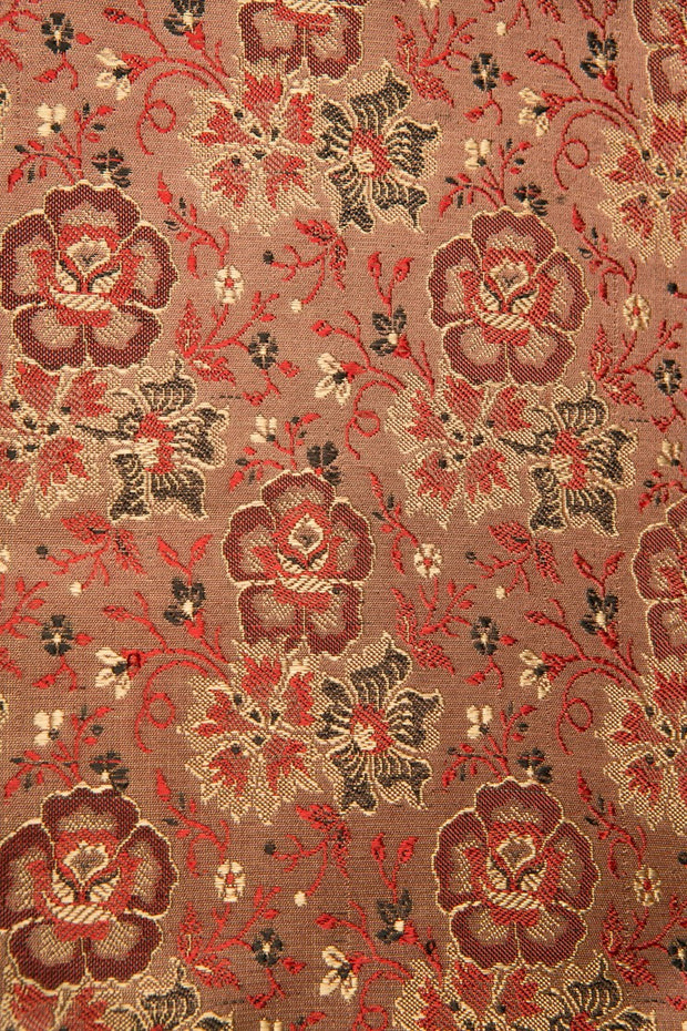 Red Silk Brocade 446 Fabric