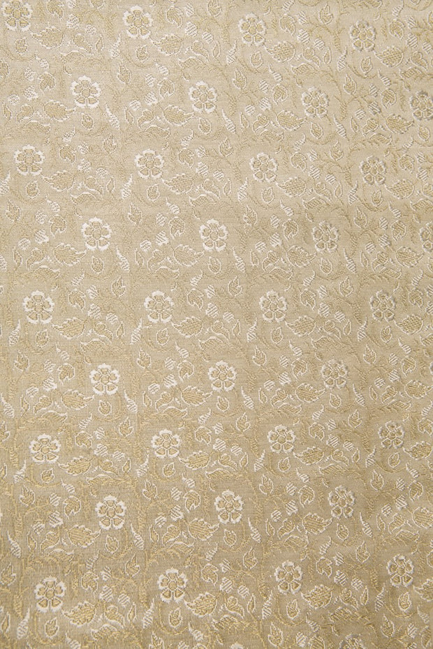 White Gold Silk Brocade 466 Fabric