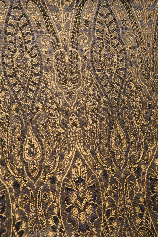 Black Gold Silk Brocade 485 Fabric