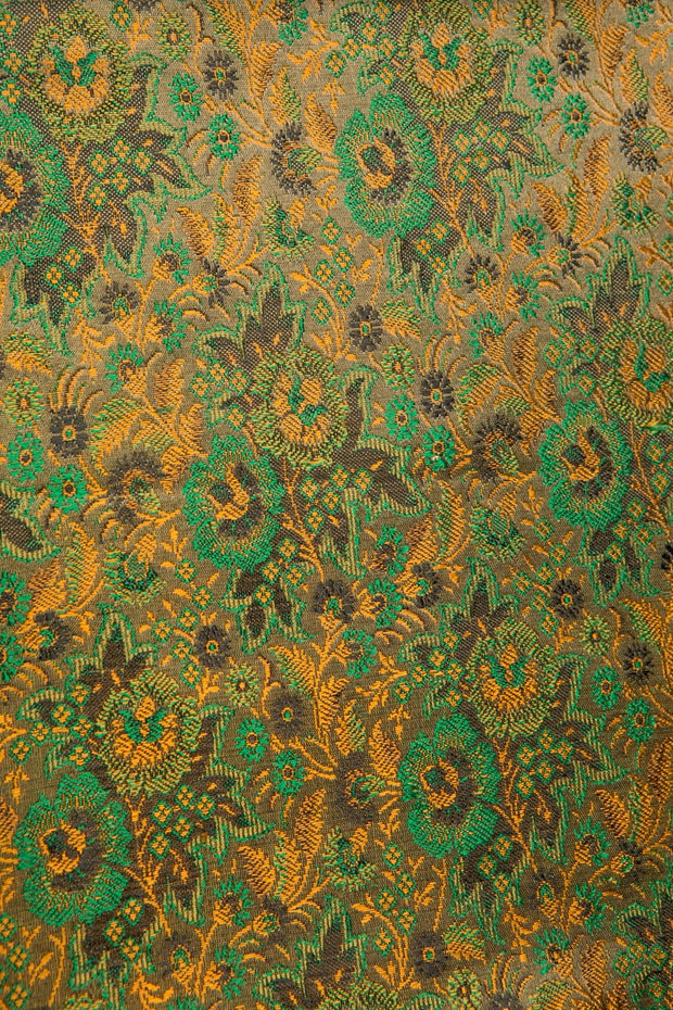 Green Glow Silk Brocade 489 Fabric