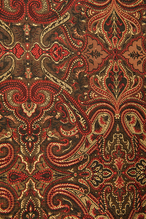 Red/Black Silk Brocade 490 Fabric