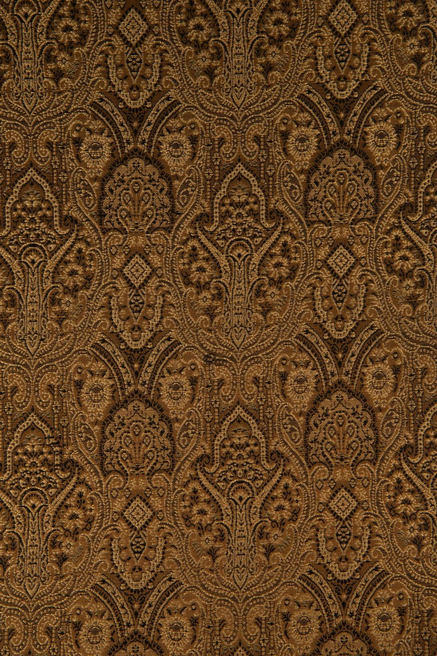 Brown Silk Brocade 506 Fabric