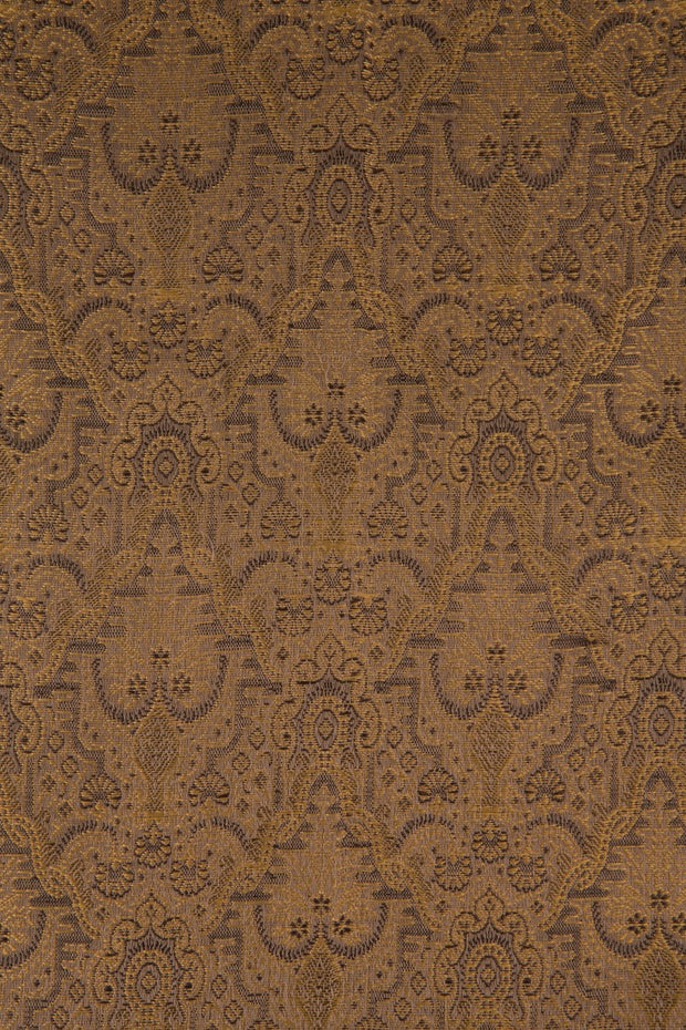 Golden Brown Silk Brocade 507 Fabric