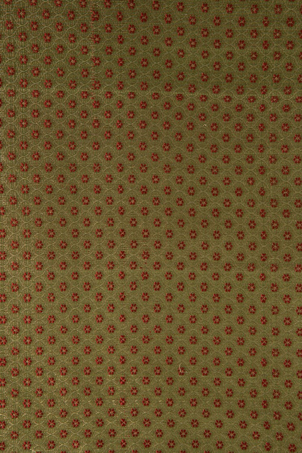 Golden Red Silk Brocade 515 Fabric