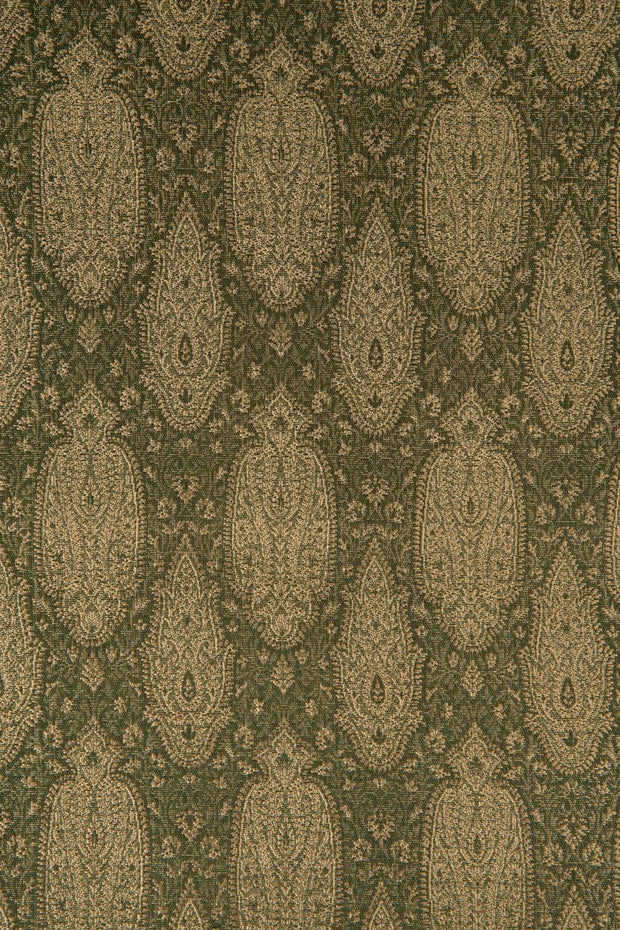 Dark Green Olive Silk Brocade 517 Fabric