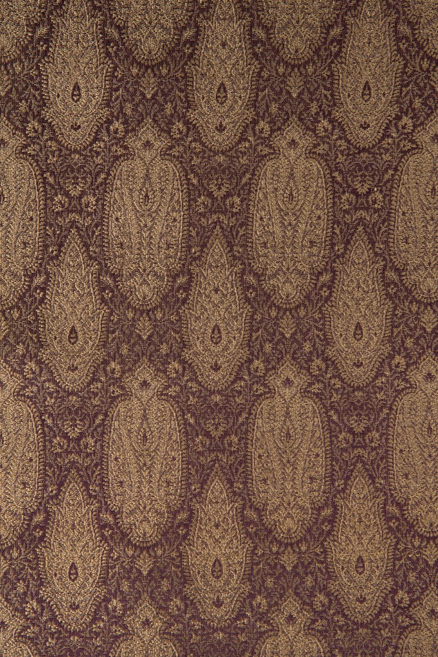 Golden Purple Silk Brocade 517 Fabric