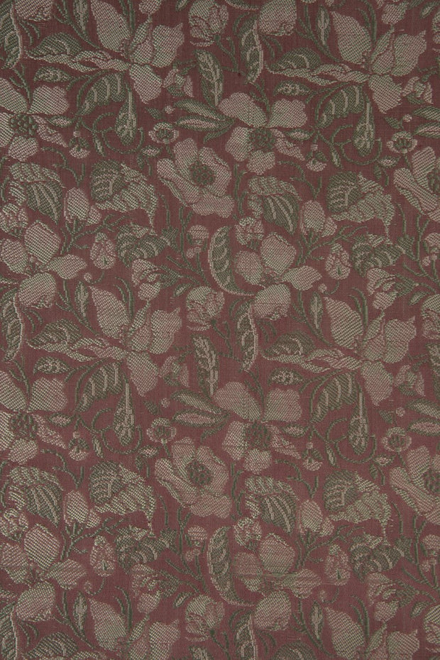 Purple Silk Brocade 524 Fabric