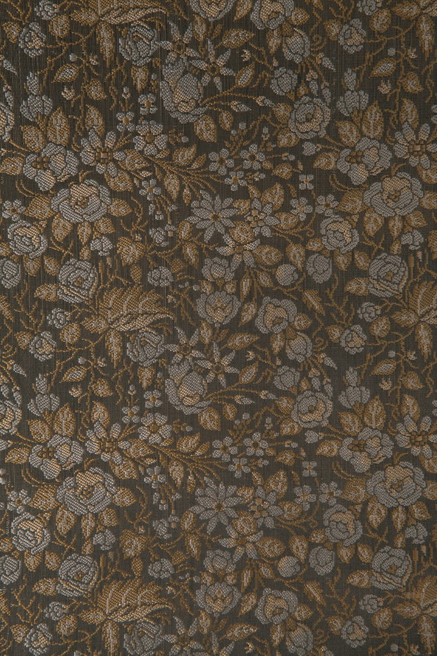 Golden Green Silk Brocade 525 Fabric