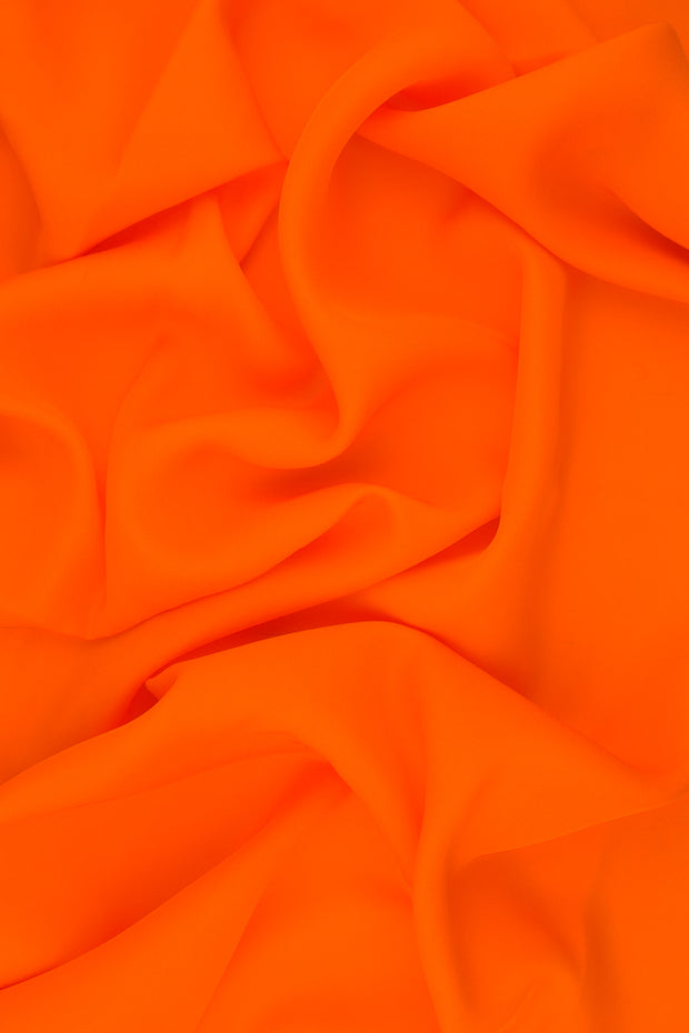 Persimmon Orange Silk Double Georgette Fabric