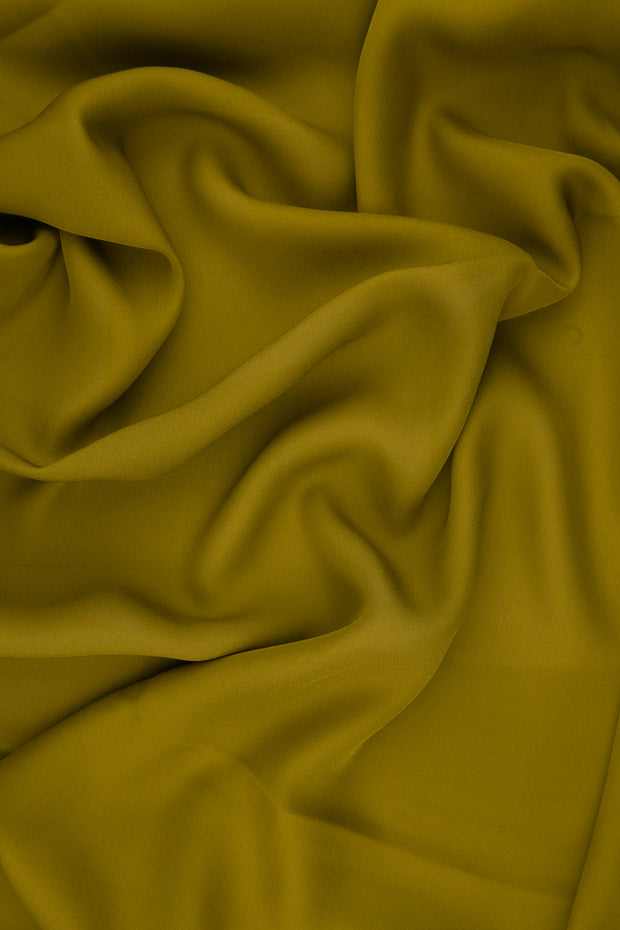 Mustard Gold Silk Double Georgette Fabric