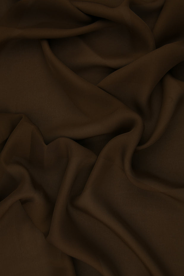 Copper Brown Silk Double Georgette Fabric