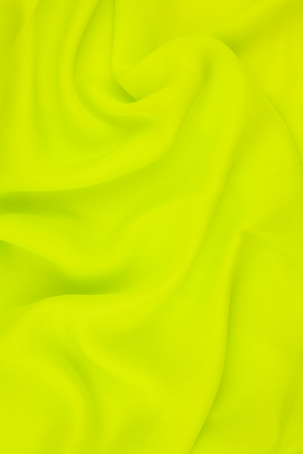 Chartreuse Silk Double Georgette Fabric