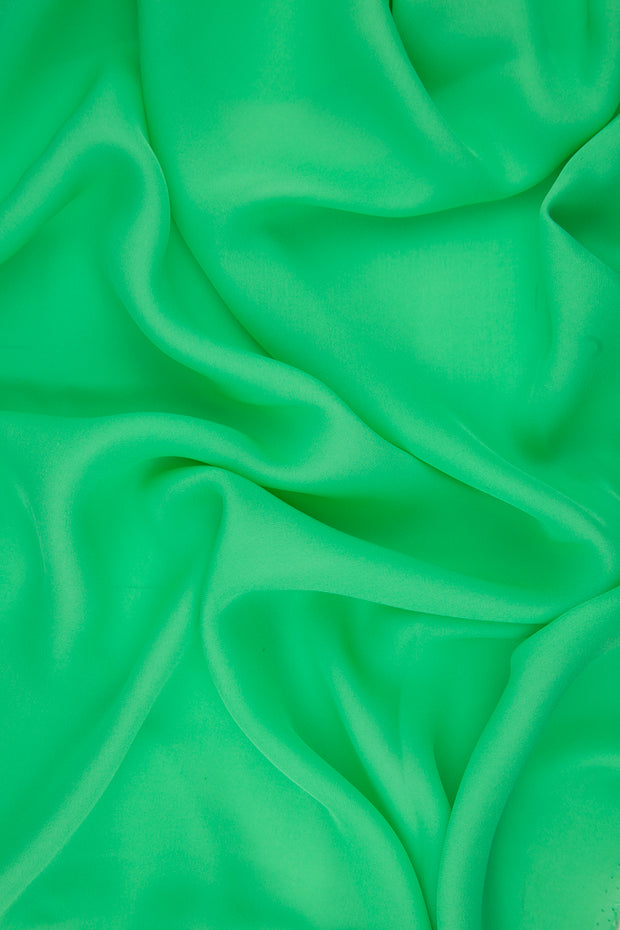 Spring Green Silk Double Georgette Fabric