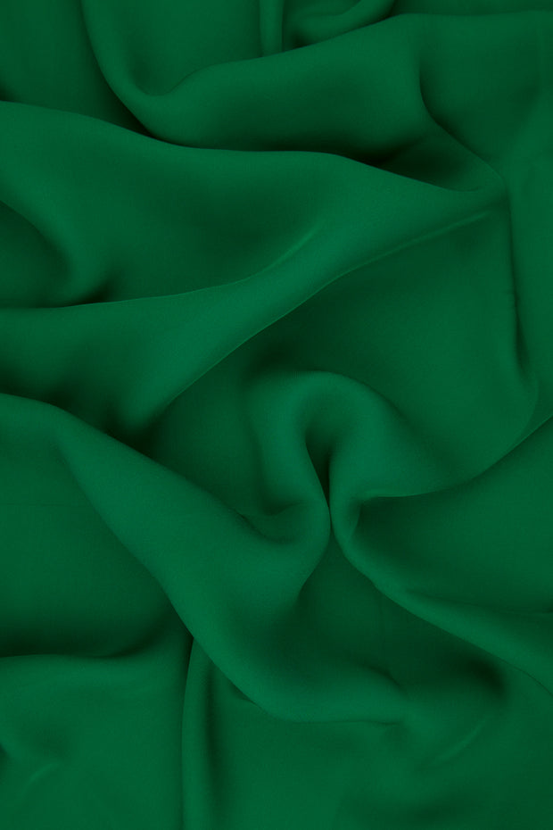 Jelly Bean Green Silk Double Georgette Fabric
