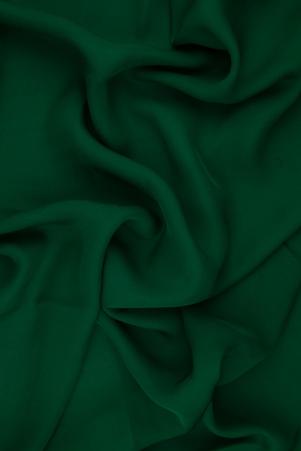 Hunter Green Silk Double Georgette Fabric
