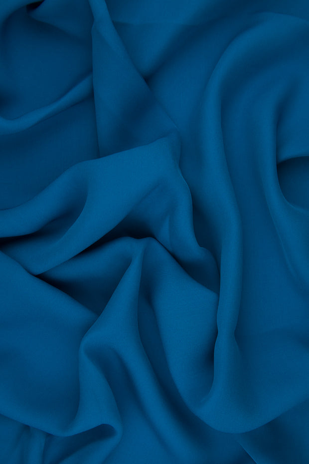 Blue-Green Silk Double Georgette Fabric