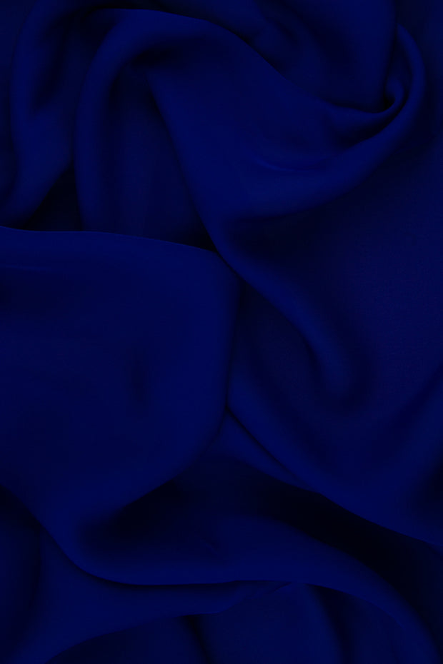 Royal Purple Silk Double Georgette Fabric