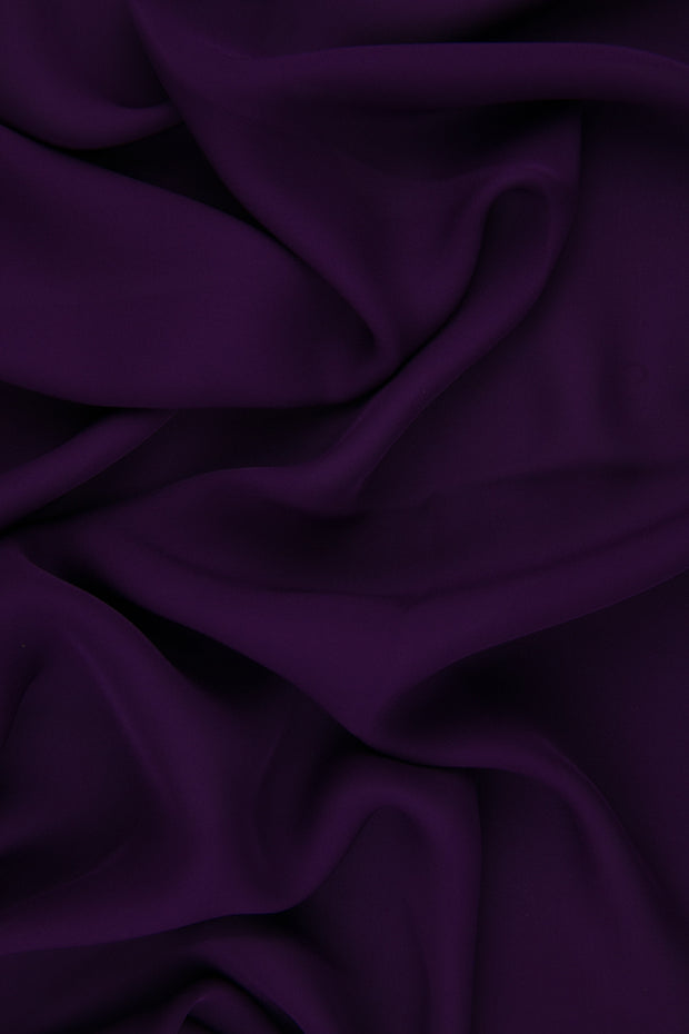 Amethyst Silk Double Georgette Fabric