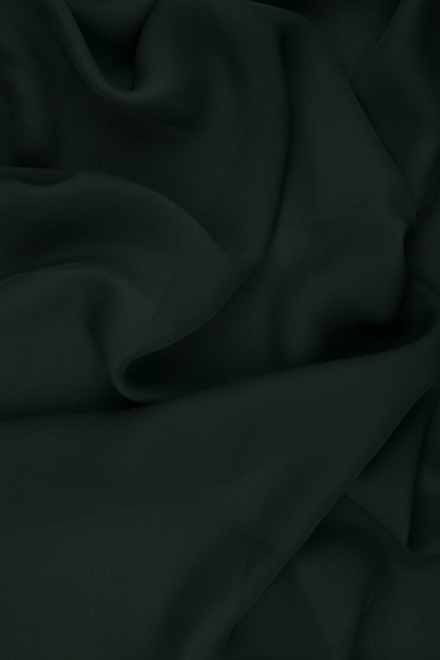 Anthracite Silk Double Georgette Fabric