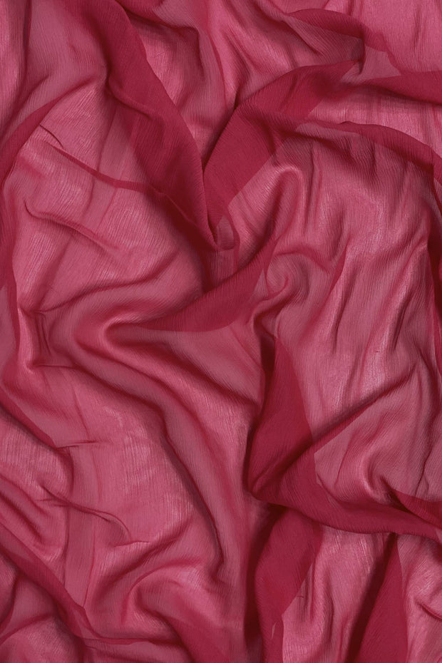 Virtual Pink Silk Heavy Crinkled Chiffon HCD-082 Fabric