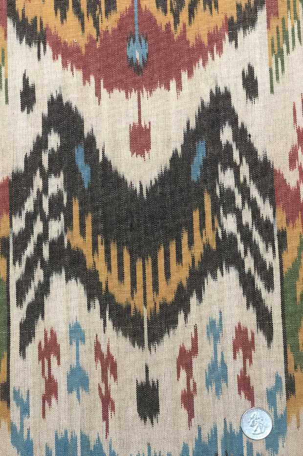 Multicolor Cotton Ikat 68 Fabric