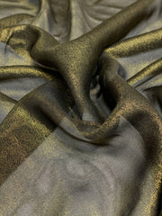Black Burnt Gold Viscose JEAD-035 Fabric