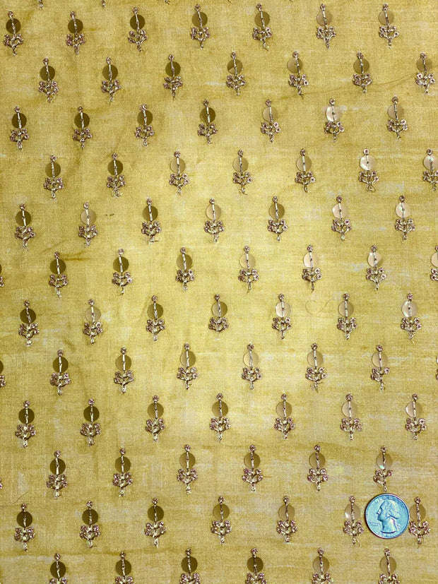 Gold Sequin JEAD-045 Fabric
