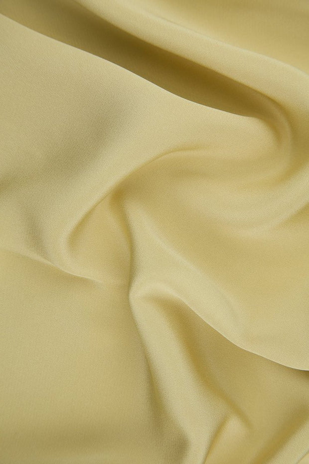 Almond Buff Silk 4-Ply Crepe Fabric