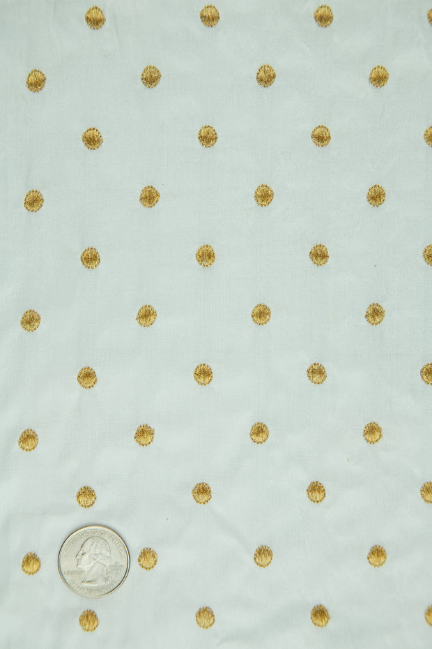 Embroidered Dupioni Silk MED-024-2 Fabric