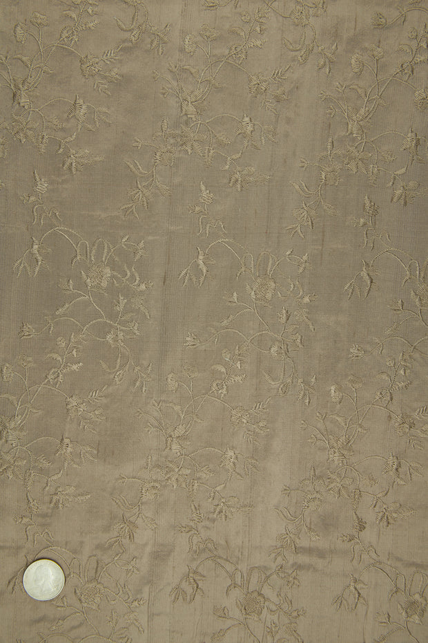 Embroidered Dupioni Silk MED-117/15 Fabric