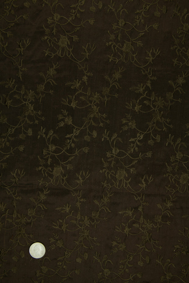 Embroidered Dupioni Silk MED-117/20 Fabric