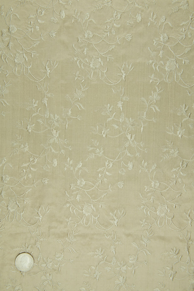 Embroidered Dupioni Silk MED-117/9 Fabric