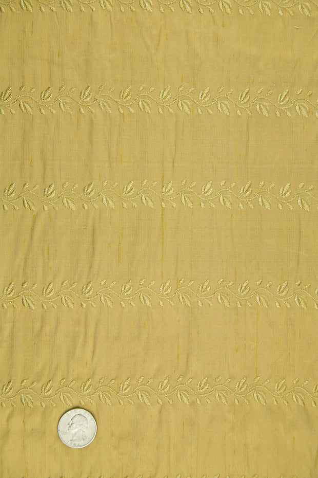 Embroidered Dupioni Silk MED-119/11 Fabric