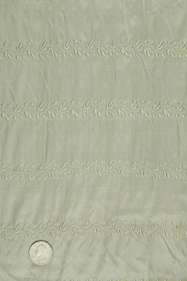 Embroidered Dupioni Silk MED-119/12 Fabric