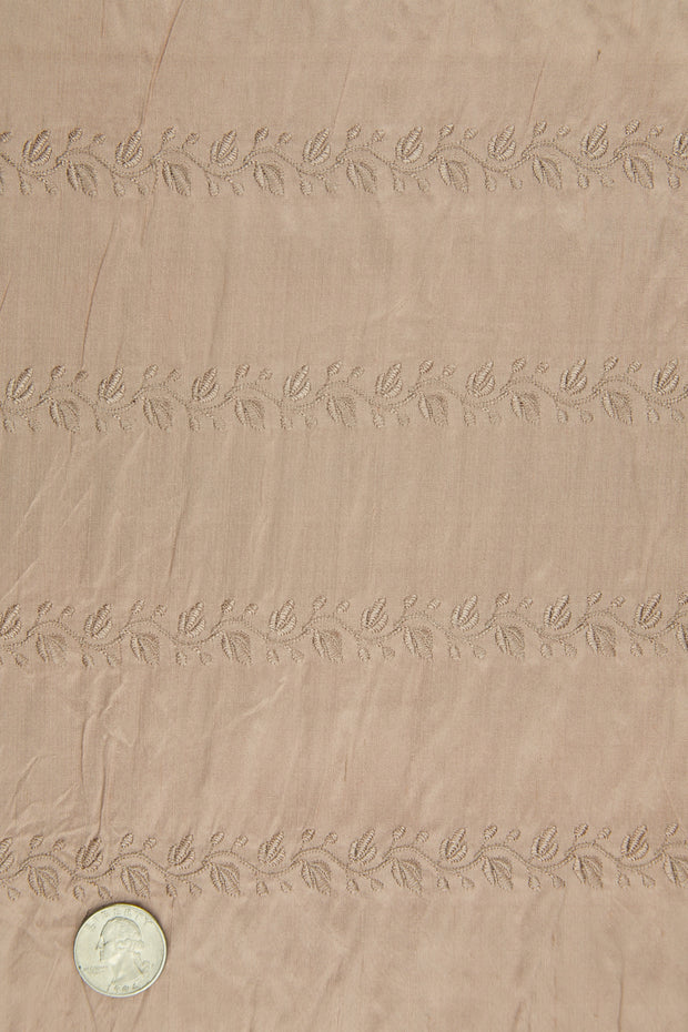 Embroidered Dupioni Silk MED-119/13 Fabric
