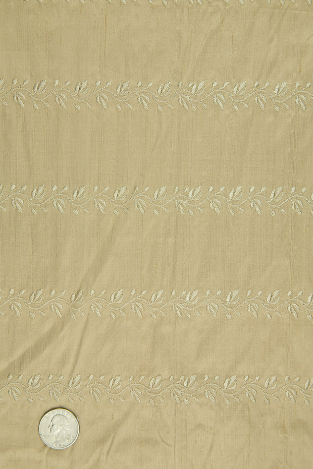 Embroidered Dupioni Silk MED-119/16 Fabric