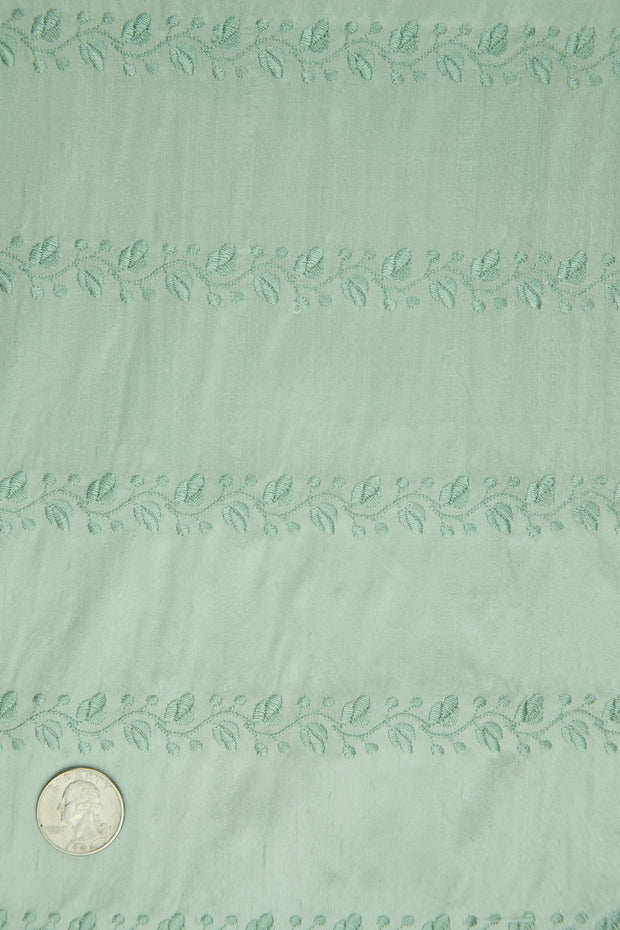 Embroidered Dupioni Silk MED-119/21 Fabric