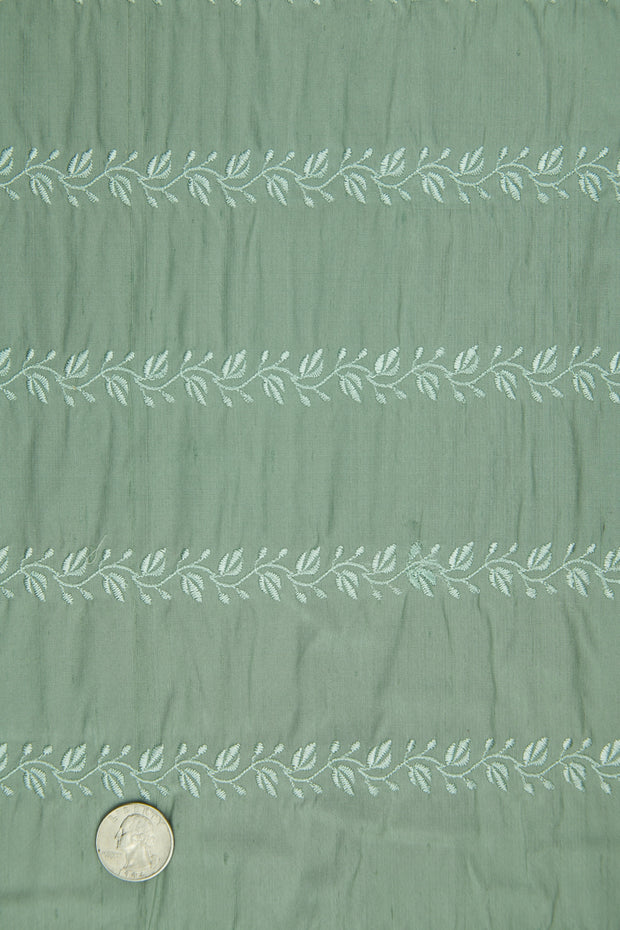 Embroidered Dupioni Silk MED-119/3 Fabric