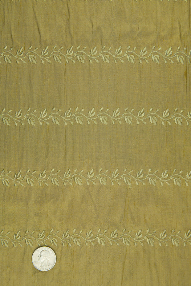 Embroidered Dupioni Silk MED-119/4 Fabric