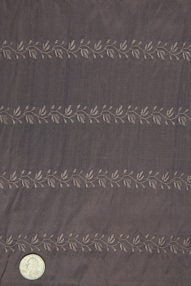 Embroidered Dupioni Silk MED-119/5 Fabric