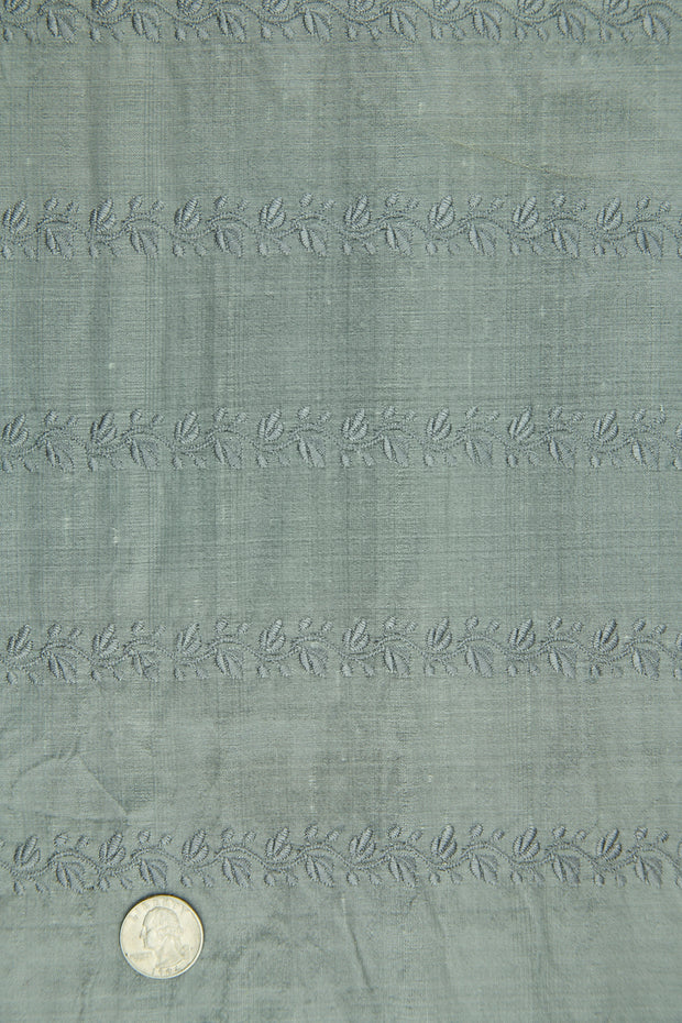 Embroidered Dupioni Silk MED-119/7 Fabric