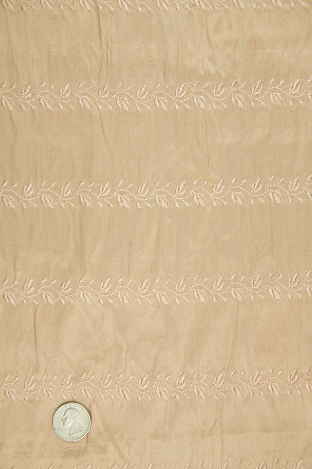 Embroidered Dupioni Silk MED-119/9 Fabric