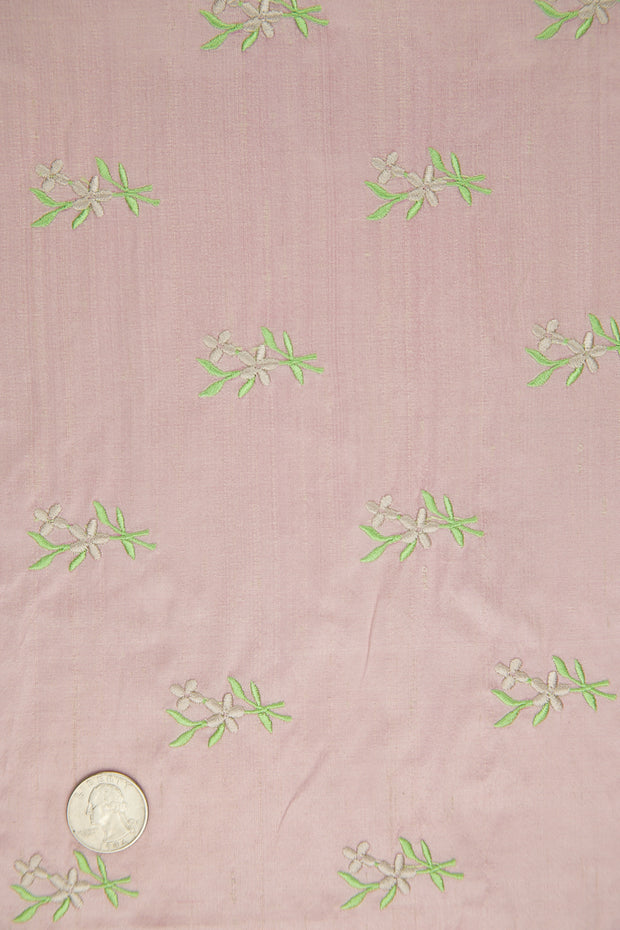 Embroidered Dupioni Silk MED-125 Fabric