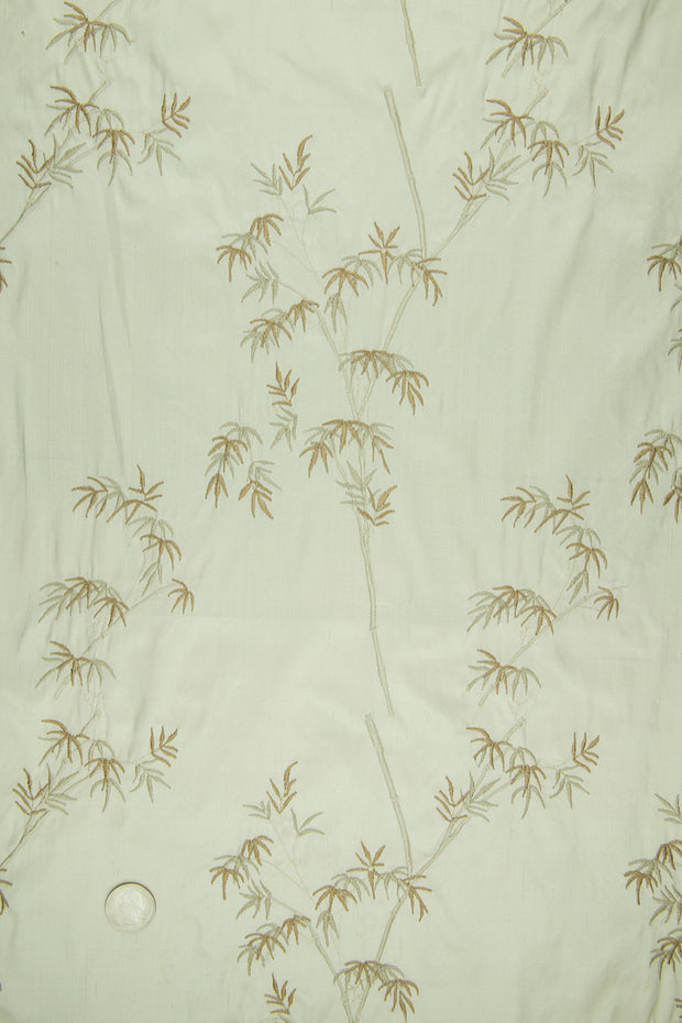 Embroidered Dupioni Silk MED-136/1 Fabric
