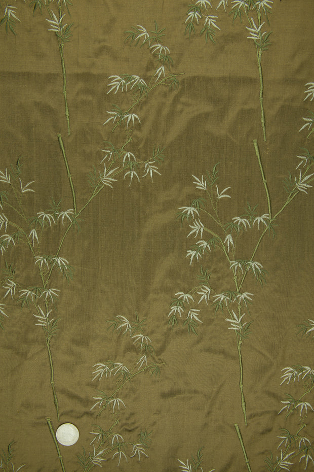 Embroidered Dupioni Silk MED-136/3 Fabric