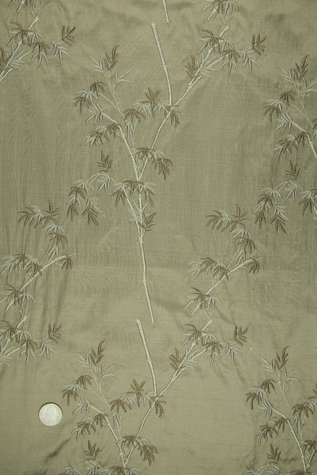 Embroidered Dupioni Silk MED-136 Fabric