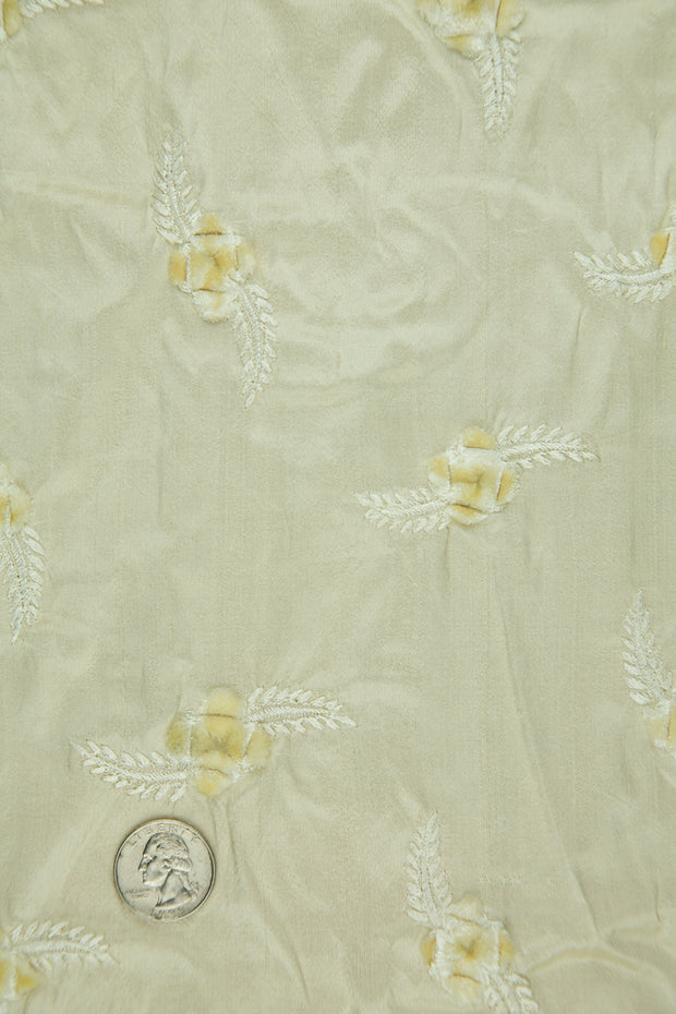 Embroidered Dupioni Silk MED-140/3 Fabric