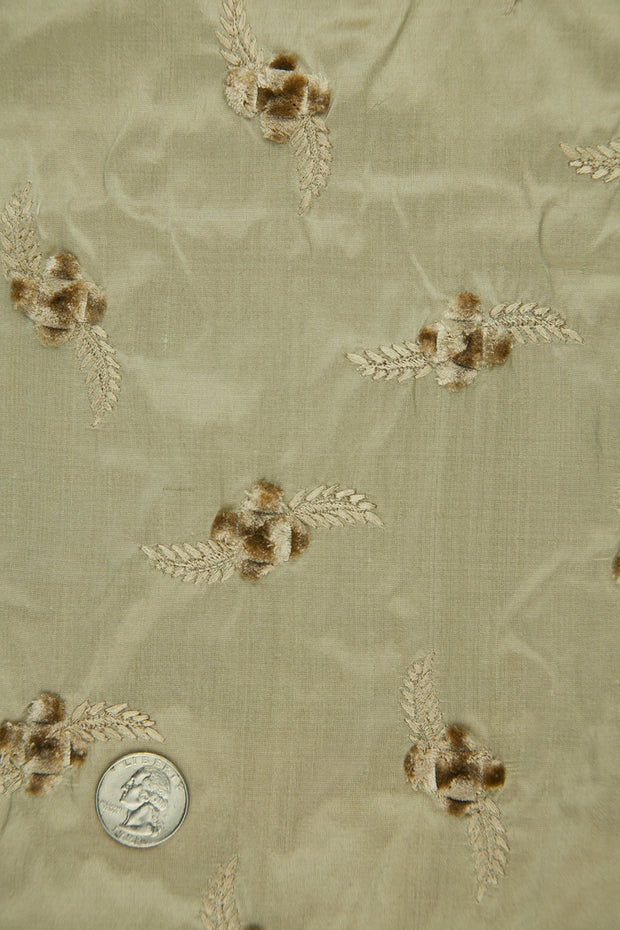 Embroidered Dupioni Silk MED-140/4 Fabric